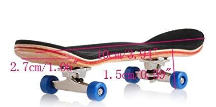 Amazon.com: ONcemoRE Fingerboard Skateboard, 1Pc Wooden ...