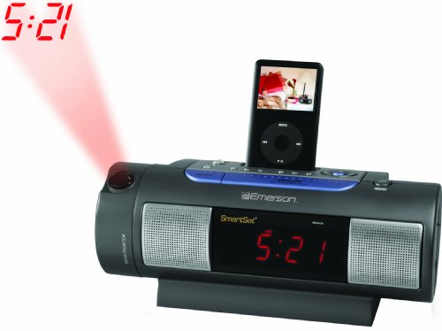 Emerson iC172 iPod Dock Alarm Clock Radio (With Radio Dock Clock Nano Ipod)
