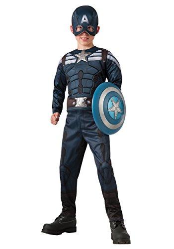 [Captain America: The Winter Soldier Reversible Stealth/Retro Costume, Small] (Kids Captain America Costumes)