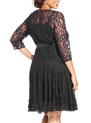 3 4 sleeve plus size cocktail dresses