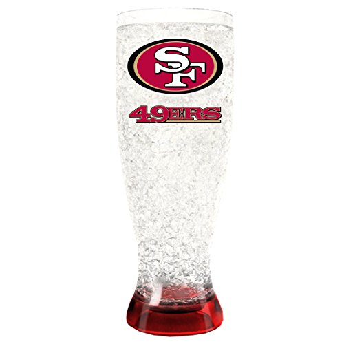 (NFL San Francisco 49Ers 16oz Crystal Freezer Pilsner)