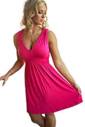 Charm Your Prince Women S Sleeveless Summer Sundress Large Hot Pink