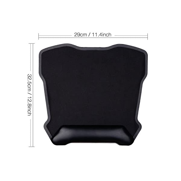 Jelly Comb Mouse Pad, Large Gaming Mouse Mat Ergonomic Mousepad with Leather Wrist Pad 12'' X 13'' Nonskid Base (Black)