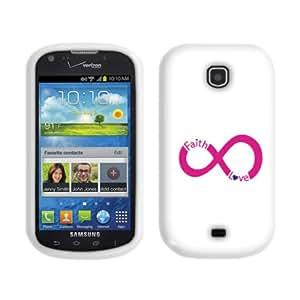 Fincibo (TM) Samsung Galaxy Stellar Jasper I200 Protector Cover Case Silicone Skin Soft TPU Gel - Infinity Faith Love Pink