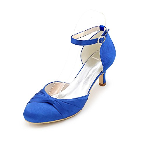 Blue YC Silver Pointed Women Heels High Blue Heels Leisure and L Silk High Purple and Professional Office Blue Wedding Red White RYdSTnwnq