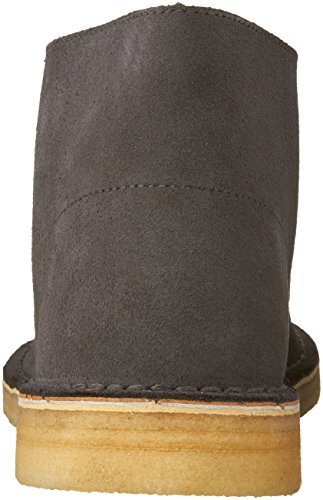 Stivale Chukka Desert Clarks da uomo, pelle scamosciata grigio scuro, 13 M US