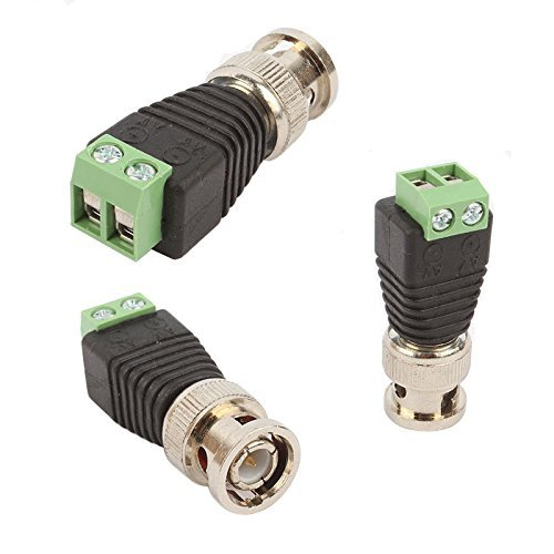 Efreecity® 10 Set CAT5 TO BNC Passive Video and Power Balun Transceiver for CCTV