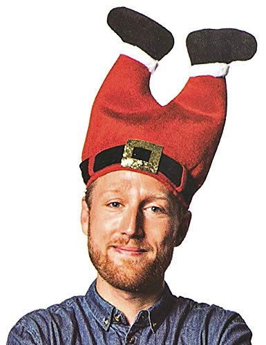 DomeStar April Fools Day Hat, Funny Hat Novelty Santa Hat Crazy Hats Santa Pants Hat -