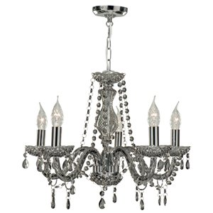 Marie therese 5 light smoked grey glass chandelier ceiling light marie therese 5 light smoked grey glass chandelier ceiling light 8695 5gy aloadofball Image collections