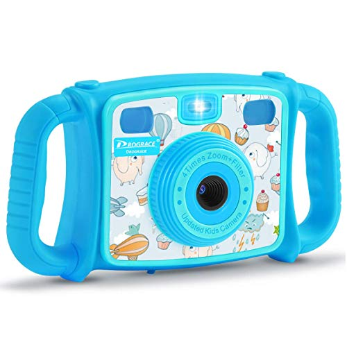 Prograce Kids Camera Creative Camera 1080P HD Video Recorder Digital Action Camera Camcorder for Boys Girls Gifts 2.0