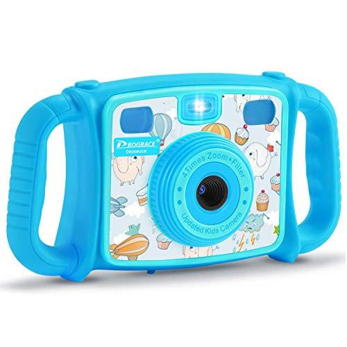 PROGRACE Kids Camera Creative Camera 1080P HD Video Recorder Digital Action Camera Camcorder for Boys Girls Gifts 2.0