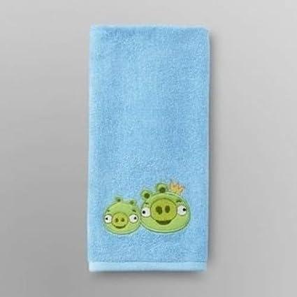 Angry Birds bordado toalla de mano