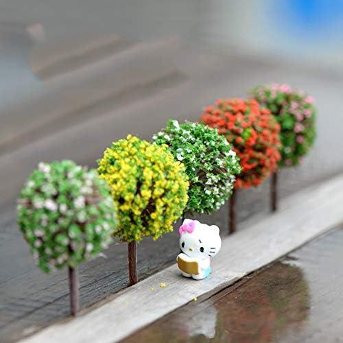Inveroo 5 Unids Mini Jardín Decoraciones Resina Árbol Hada Jardín Terrarium Figuritas De Hadas Miniatura Figuritas Miniaturas Árboles Jardín Decoración: Amazon.es: Hogar