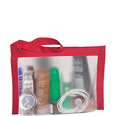 45399c5e35 high-quality Flanabags AirQuart TSA-Compliant Clear Carry-on Quart Size  Toiletry Bag