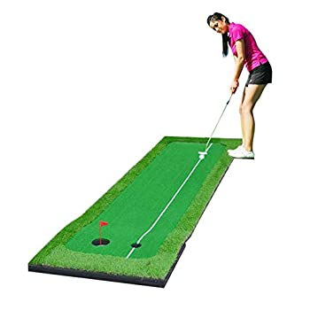 Image of 77tech Golf Putting Green System Professional Practice Large Indoor/Outdoor Challenging Putter Made of Waterproof Rubber Base Golf Training Mat Aid Equipment Putting Mats