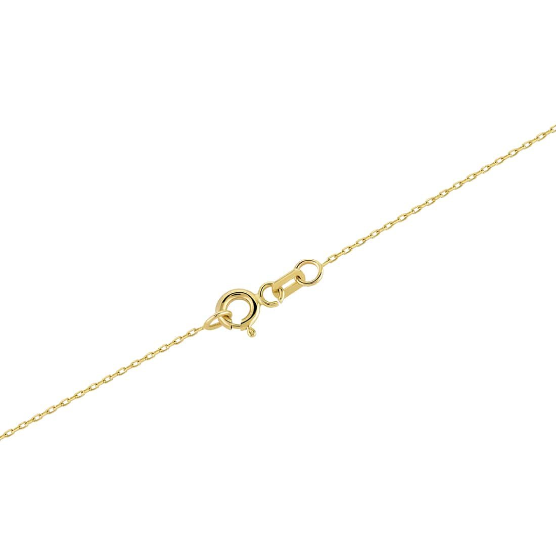 Gelin 14k Solid Yellow Gold Swan Pendant with Cubic Zirconia Chain Pendant Necklace for Women Mothers Day Fine Jewelry Gift 18 inc