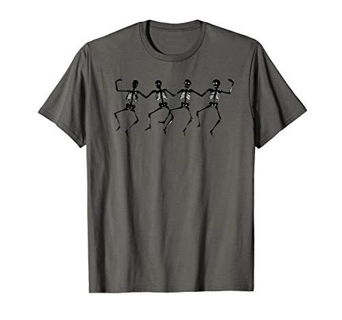 Dancing Skeletons Gruesome Ballet Dancers Clip Art Halloween T-Shirt