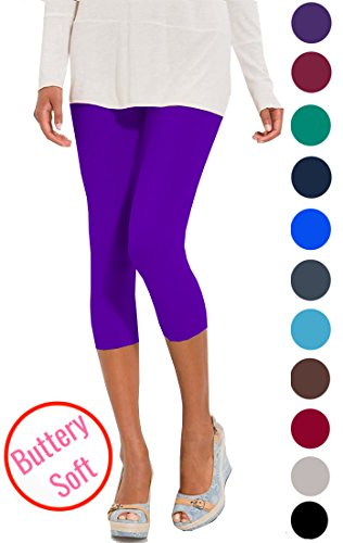 08dd36ec1bf01e Lush Moda Extra Soft Capri Leggings - Variety of Colors - - Import ...