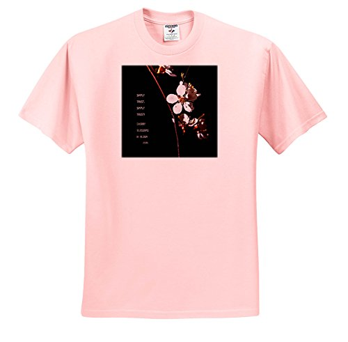 Price comparison product image 3dRose Alexis Photography - Flowers Sakura - Awesome Japanese Apricot Blossoms, Black Backdrop, ISSA Haiku - T-Shirts - Youth Light-Pink-T-Shirt Med(10-12) (ts_271475_45)