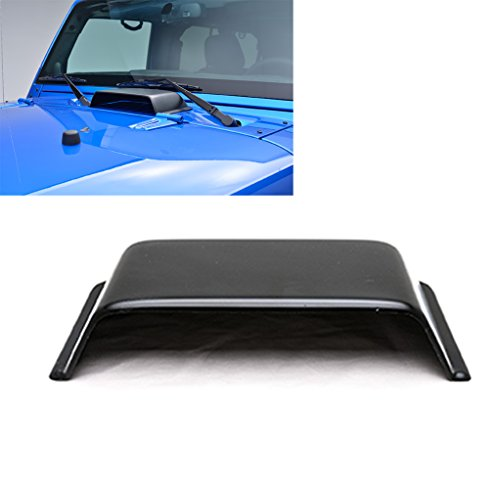 E-Autogrilles Black Air Vent Hood Scoop for Jeep Wrangler TJ