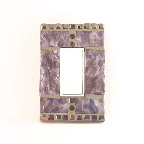 Purple Light Switch Cover, Stained Glass Switch Plate, Single Decora Light Plate Cover, Marbled Switchplate, Decorative Switch Cover, 9219