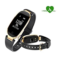 Fitness Tracker Watch, Women Waterproof Activity Tracker with Heart Rate Monitor Bluetooth Smart Watch Wireless Smart Bracelet Sleep Monitor Pedometer Wristband for Android and iOS Smartphone