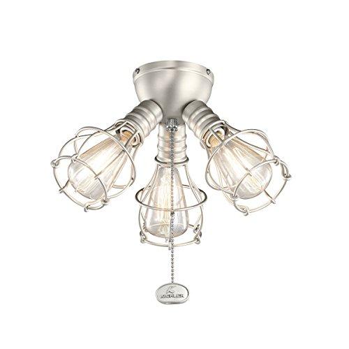 Kichler Fan Light (Kichler 370041NI Three Light Fan Light Kit)