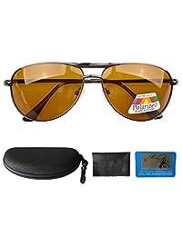 Eyekepper Pilot Spring Hinge Polarized Lens Day/Night Vision Driving Sunglasses