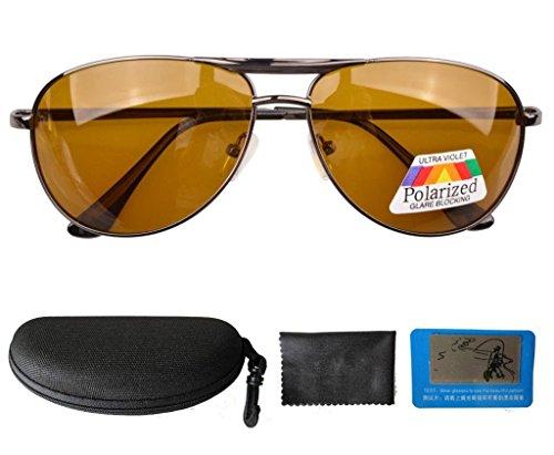 Eyekepper Pilot Spring Hinge Polarized Lens Day Night Vision Driving  Glasses Sunglasses 30c4b5925dbf