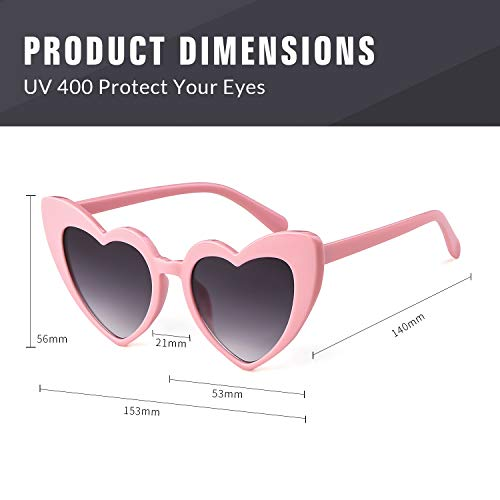 eba77fea7e Clout Goggle Heart Sunglasses Vintage Cat Eye Mod Style Retro Kurt Cobain  Glasses