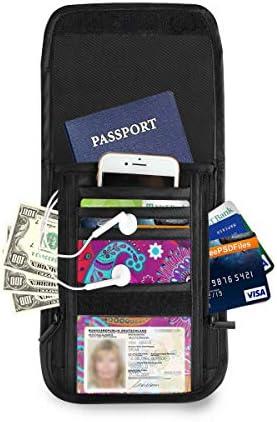 エスニック柄 カラフル パスポートホルダー セキュリティケース パスポートケース スキミング防止 首下げ トラベルポーチ ネックホルダー 貴重品入れ カードバッグ スマホ 多機能収納ポケット 防水 軽量 海外旅行 出張 ビジネス