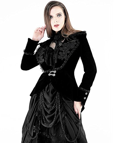 In Negro Dark Mujer Tail De Victorian Pie Chaqueta Terciopelo Vintage Love Gótica Steampunk pxBqBdgw6U