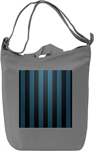 Black and Blue Stripes Borsa Giornaliera Canvas Canvas Day Bag| 100% Premium Cotton Canvas| DTG Printing|