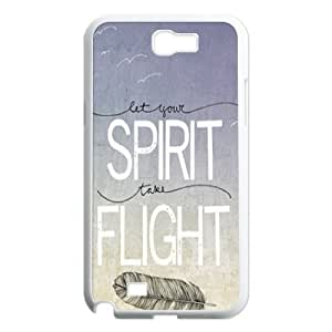 Feather Quote Fly Original New Print DIY Phone Case for Samsung Galaxy Note 2 N7100,personalized case cover ygtg616000