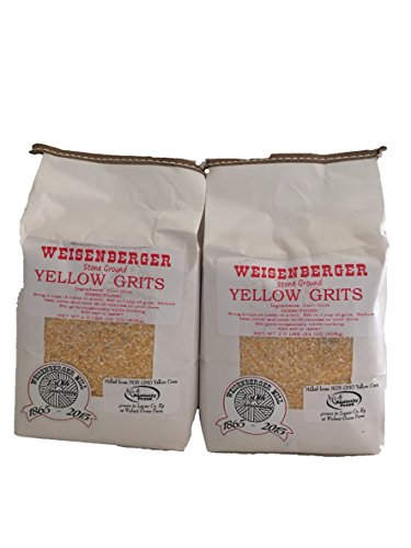 Weisenberger Mills Southern Yellow Grits Non Gmo - A Ky Proud Product 2lb ea Pkg 2 Packs