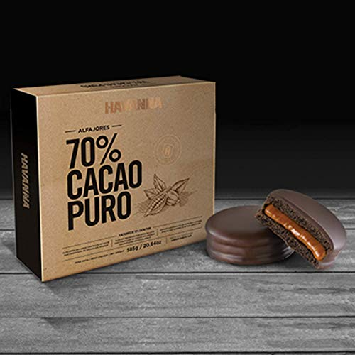 Amazon.com : NEW HAVANNA Extra Dark Chocolate 70% (9 alfajores) - GIFT BOX : Grocery & Gourmet Food