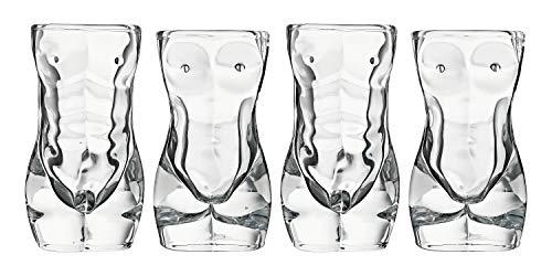 Sexy Exotic Adult Shotglasses, 2 Male + 2 Female per set