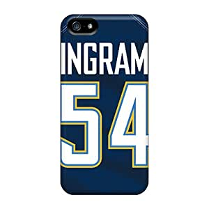 New Snap-on Rewens Skin Case Cover Compatible With Iphone 5/5s- San Diego Chargers