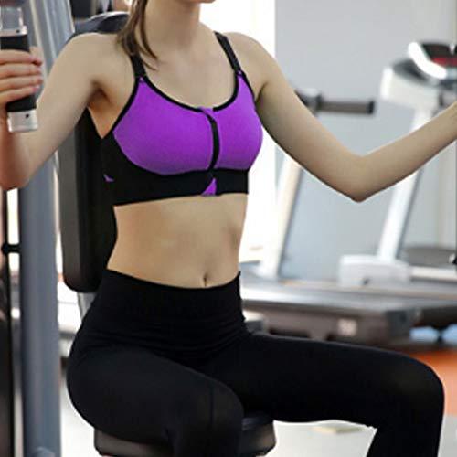 De blackpurple expansión Sin Sujetador Deportes Funciona Antibalas Mujer Anti Ajustable Moda Dimpleya Que Anillo Deportivo Para s Acero Con Yoga AIYTAUxqBw