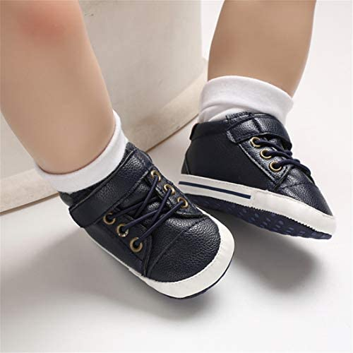 41SdQ4g3bXL. AC - LAFEGEN Baby Boys Girls Oxford Dress Shoes Non Slip Lace Up Sneaker PU Leather Moccasins Newborn Infant Toddler Loafers First Walker Crib Shoes 3-18 Months