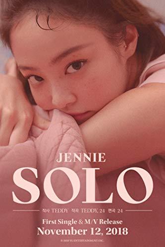 BLACKPINK JENNIE [SOLO] PHOTOBOOK CD+POSTER+PhotoBook+PostCard+PhotoCard+Tracking Number K-POP SEALED