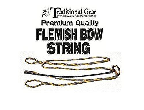 B-50 Bowstring (FLEMISH B-50 Dacron REPLACEMENT RECURVE BOWSTRING - BOW STRING - ACTUAL STRING LENGTH - By Trad Gear Archery Products (Multiple Sizes) (58