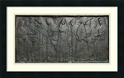 Framed Wall Art Print The Nuns of The Battlefield Monument M St NW Washington DC by Carol Highsmith 26.00 x ()