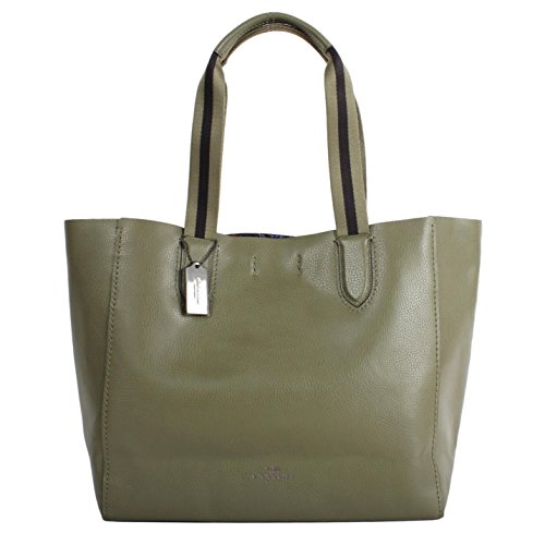 Coach Large Leather Derby Tote Purse - #F59392 by Coach