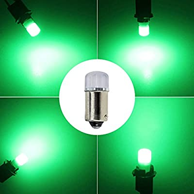 YOOSEN Ceramics Interior/Exterior LED Light Super Stable and Bright Bulb Bayonet BA9 BA9S 53 57 1895 64111 T4W Size Green Color: Automotive