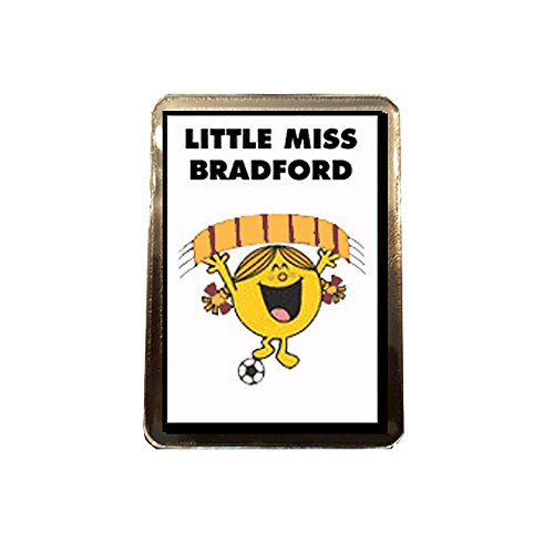 Bradford City F.C - Little Miss Football Fridge Magnet