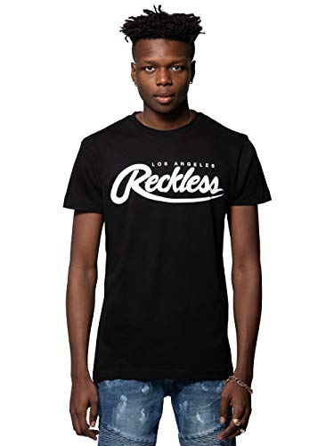 (Young and Reckless - Big R Script Tee - Black - S - Mens - Tops - Graphic Tee - Black)