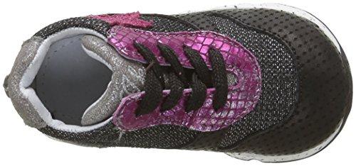 IKKS Karen - Zapatos de primeros pasos Bebé-Niños Negro - Noir (11 Vts Noir/Argent/Fushia Dpf/Bomba)