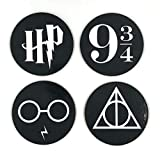 Harry Potter Coasters, Coaster For Drinks With Vibrant Colors And Cork Backing, Prevent Furniture from Dirty and Scratched, Set of 4