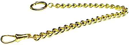 Old Father Time GOLD Sporty Pocket Watch Chain-145Y